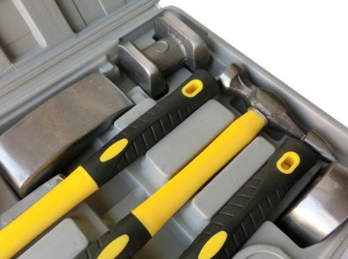 7pc 車ボディ凹み修理用板金ハンマーセット B010