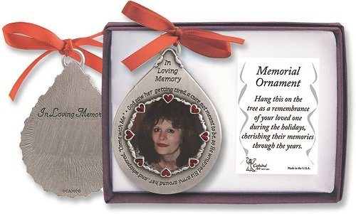 Cathedral Art CO752 In Loving Memory Frame for Woman Teardrop Ornament, 2-3/4-Inch