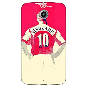 Jugaaduu Arsenal Dennis Bergkamp Back Cover Case For Google Nexus 6