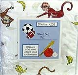 Divatex Kids Full Bedding Sheet Set Monkeys and Bananas