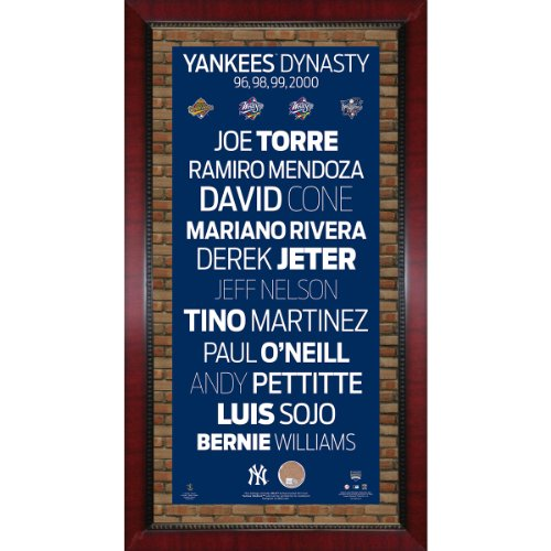 96 98 99 00 New York Yankees Champions Player Names Subway Sign Wall Art 16 Inch X 32 Inch Photo With Authentic Dirt From Yankee Stadium
