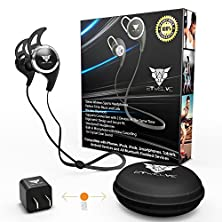 buy Bluetooth Headphones & Headset - Wireless Sport Earbuds Noise Cancelling Sweatproof Earphones For Running & Biking For Any Ios Ipad Iphone 6 6S Plus & Android Samsung S5 S6 Or Any Bluetooth Device