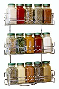 DecoBros 3 Tier Wall Mounted Spice Rack, Chrome by Deco Brothers