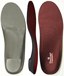 Powerstep Pinnacle Maxx Full Length Orthotics - Red, Men\'s 11 - 11.5