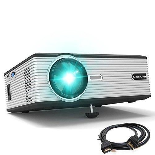 Crenova XPE470小型LEDプロジェクター1200ルーメン1080フルHDMI/VGA/AV/USB/SD対応