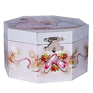 Buy girls musical jewelry music box spinning ballerina for Amazon ballerina musical jewelry box