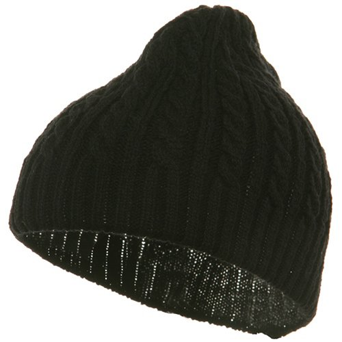 Twister Skully Beanie-Black W16S19D