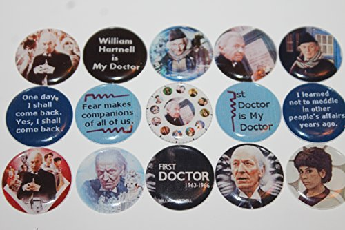 Geocache Refrigerator Magnets - Doctor Who Theme - The First Doctor William Hartnell front-249532