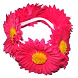 Hair accessory - Fuchsia daisy scrunchie / bun ring / bun decoration. Very fashionable brand new. Birthday or Christmas gift. Perfect stocking fillers , gift ideas