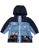 Playshoes Jungen Regenmantel 408595-11 Playshoes Winter Regenjacke mit Fleecefutter, Style Eskimo, marine-hellblau (Weitere Farben)