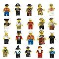 Lanlan Lot of 20 Minifigures Men People Minifigs
