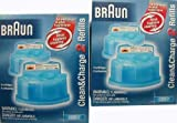 Braun Shaver Clean and Renew Refill Cartridges CCR-2 CCR2 (4 Cartridges)