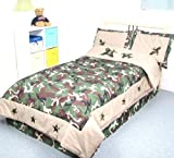 Camouflage Army Boy Twin Kids Childrens Bedding Set 4pcs