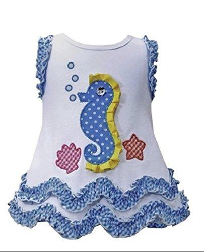 Bonnie Baby 12-24 Months Ruffled Seahorse Dress (24 Months)