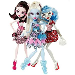 Exclusive Dot Dead Gorgeous 3 Pack Draculaura, Abbey Bominable, Ghoulia Yelps