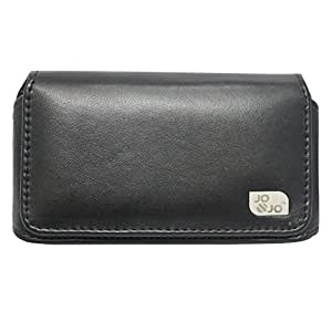 Jo Jo Belt Case Mobile Leather Carry Pouch Holder Cover Clip For Obi Fox S453 Black