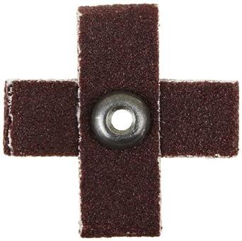 """Abrasivo Cruz Pad, 8 capas, óxido de aluminio, de 1-1 / 2 """"Largo x 1"""