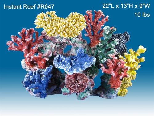 Instant Reef #R047 Artificial Coral Reef Aquarium Decor for Saltwater Fish, Marine Fish Tanks and Freshwater Fish Aquariums