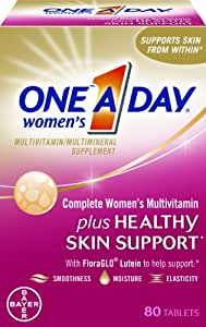 One-A-Day Women's Complete Mutlivitamin Plus Healthy Skin Support, 80-Count (EXPIRES 03/2015)