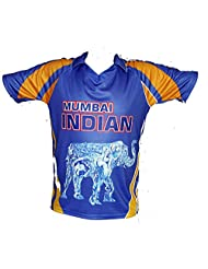 All Over Stylish Digitally Printed Cricket T-shirts - Inspired From - Mukesh Ambani's Men In Blue Mumbai Indians...