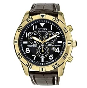 Outstanding Citizen Men's Eco-Drive Chronograph Calendar Strap Watch