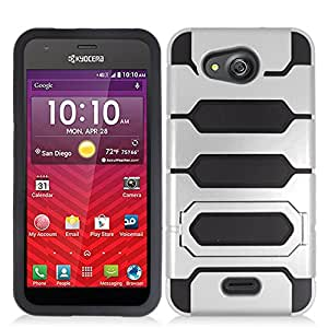 Zizo Cell Phone Case for Kyocera Hydro Wave C6740 - Retail Packaging - Black/Silver