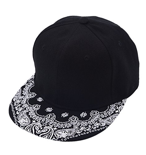 [Vegali Fashion Cool Adjustable Snapback Hip-hop Golf Baseball Cap Hat Unisex (C122-Black)] (Pork Pie Hat For Sale)