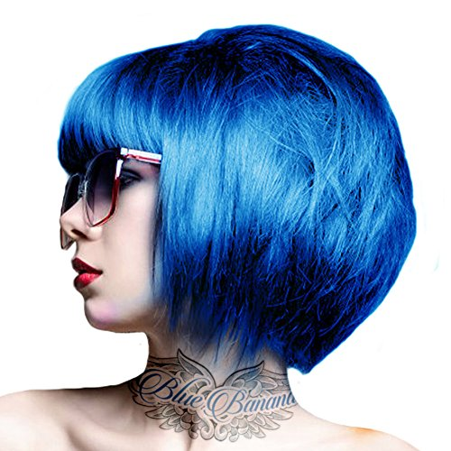 crazy color coloration pour cheveux semi permanente 100ml bleu capri - Coloration Permanente Bleu