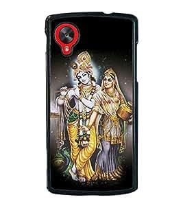Fuson Premium 2D Back Case Cover Lord RadhaKrishna With Blue Background Degined For LG Google Nexus 5::LG Google Nexus 5 (2014 1st Gen)