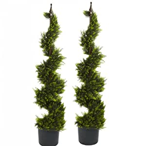 ONE 5 Pre Potted Rosemary Artificial Thick Topiary Tree