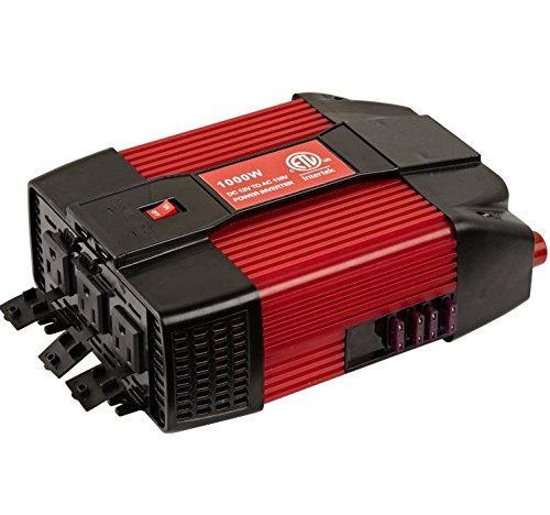 Cartman 110V AC outlets and USB 2.1A 1000w power inverter, car DC 12V to 110V AC inverter, laptop charger notebook USB adapter (Cartman 12v Car Battery compare prices)