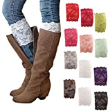 HP95(TM) Womens Stretch Lace Boot Leg Cuffs Soft Laced Boot Socks