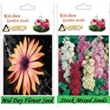 Alkarty Mid Day And Stock Mixed Flower Seeds Pack Of 20 (Winter)