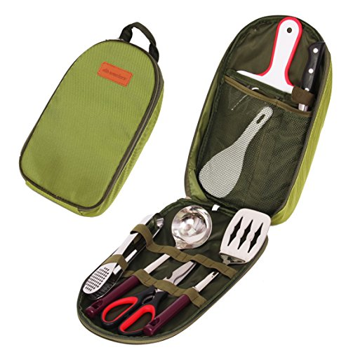 Wealers-7-Piece-Outdoor-Indoor-Camping-Bbq-Cooking-Utensils-Set-Kitchenware-Cookware-Set-Cutting-Board-Rice-Paddle-Tongs-Scissors-Knife
