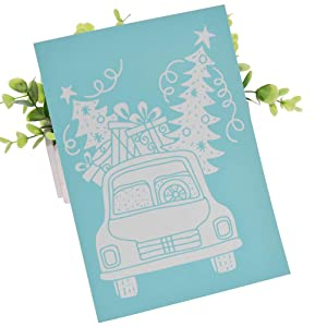 YeulionCraft Self-Adhesive Silk Screen Printing Stencil Christmas Theme Mesh Transfers for DIY T-Shirt Pillow Fabric Painting Decoration, Style-06 (Color: Style-06)