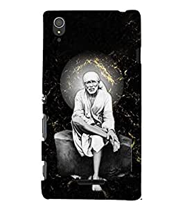 Sri Sai Baba 3D Hard Polycarbonate Designer Back Case Cover for Sony Xperia T3