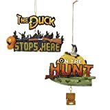Painted Resin Hunting Sign Ornaments (set Of 2 Assorted)