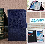 SYCOM® Position Stand Protective Case for Samsung Galaxy Note II Note 2 N7100 with Credit Card Holder (Purple). 6~10 Days Delivery