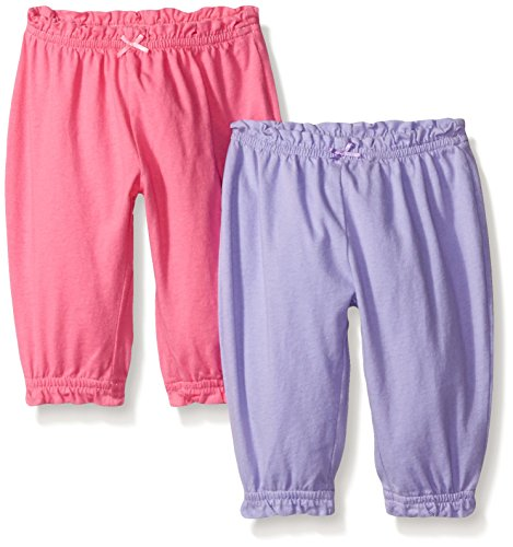 The Children's Place Baby Summer Pant, Pink Blast, 0-3 Months (Pack of 2)