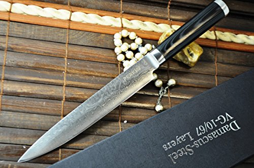 Hunting Knife - Damascus Steel - Handmade Kitchen Knife - Amazing Value Limmited Time Offer
