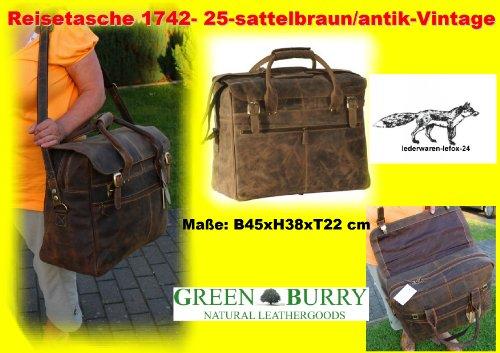 Reisetasche 1742 braunantik Flugkabinen tauglich