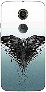 Snoogg Black Scavenger Case Cover For Moto X 2Nd Genration