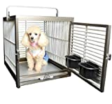 Aluminum Pet Travel Cage and Carrier for Birds, Dogs, and Cats