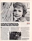 Piper Laurie Twin Peaks original clipping magazine photo 2pg 8x10 #Q9452