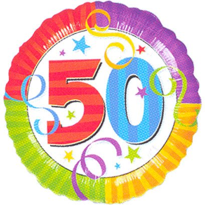 "50th Birthday 18"" Mylar Balloon"