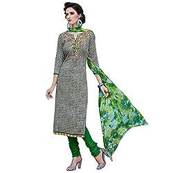 Shelina Women Black Cotton Printed Salwar Suit