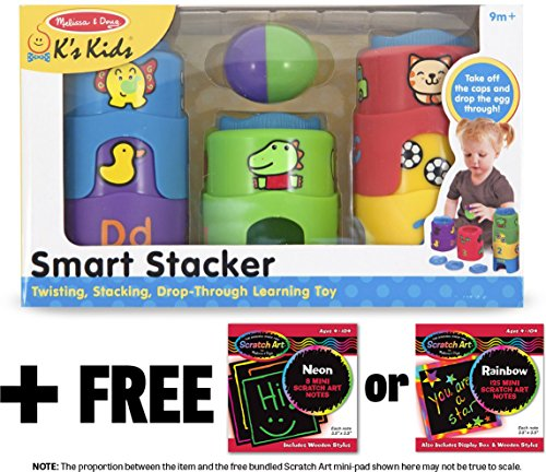K's Kids Smart Stacker + FREE Melissa & Doug Scratch Art Mini-Pad Bundle [91862]