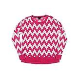 Tommy Hilfiger White Zig-Zag Women's Crewneck Sweater