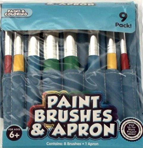 Paint Brushes & Apron Set - 1