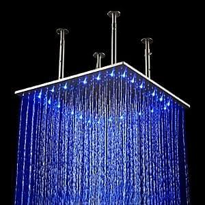 20 pollici in acciaio inox soffione doccia con luce led - Doccia con led ...